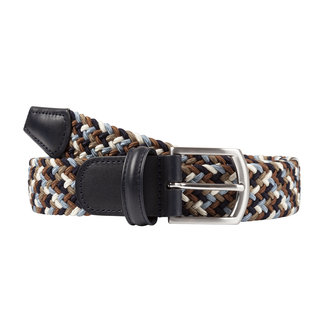 Anderson's Woven Stretch Belt Beige Mix