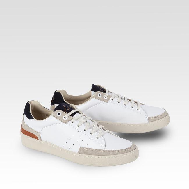 L'Ascolana Casetta Sneakers Weiß & Dunkelblau