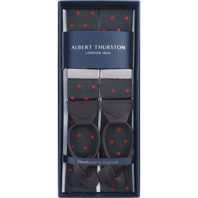 Albert Thurston Braces Dark Green Red