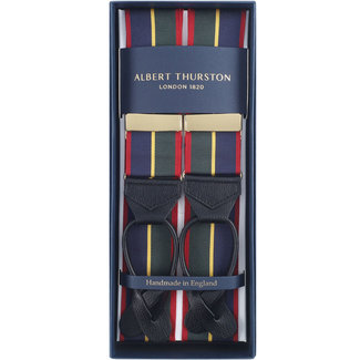 Albert Thurston Bretels Navy Groen Rood