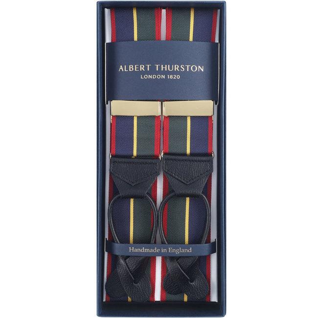Albert Thurston Hosenträger Dunkelblau Grün Rot