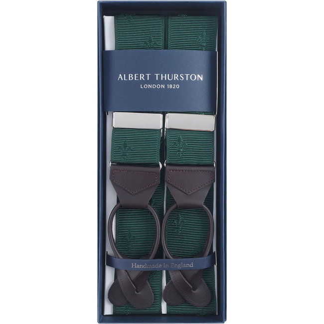 Albert Thurston Bretels Groen Franse Lelie