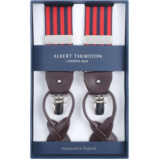 Albert Thurston Braces Red Navy