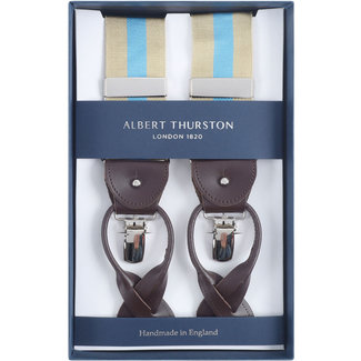 Albert Thurston Braces Beige Light Blue