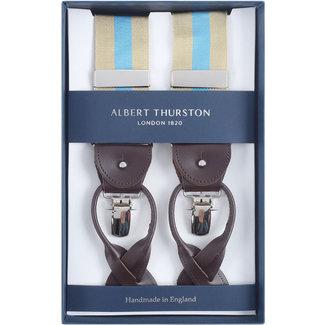 Albert Thurston Hosenträger Beige Hellblau