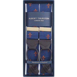 Albert Thurston Bretels Blauw Goud Franse Lelie