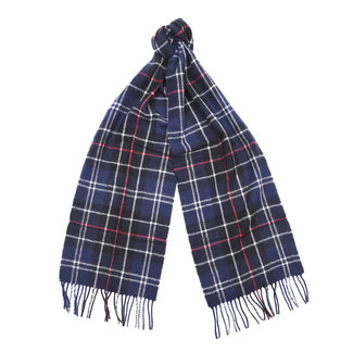 Barbour Classic Tartan Lambswool Scarf Navy & Red