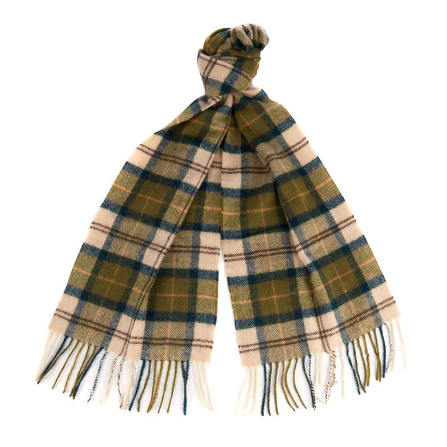 Barbour Ancient Tartan Lambswool Scarf Green