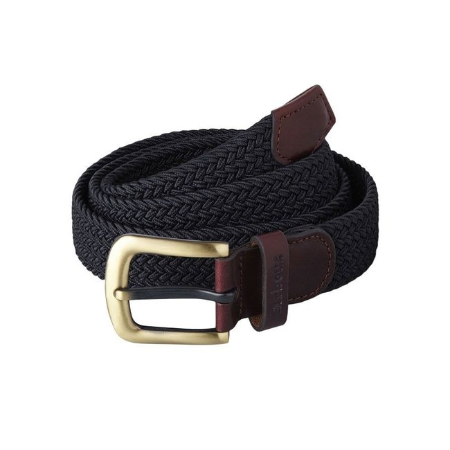 Barbour Woven Stretch Belt Navy