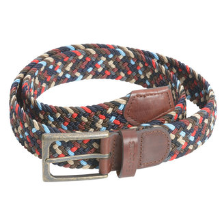 Barbour Woven Stretch Belt Ford Navy Mix