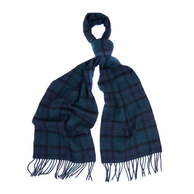 Barbour Tartan Lambswool Scarf Blackwatch