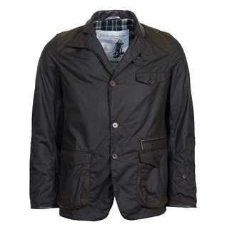 Barbour Icons Beacon Sports Wax Jas Olijfgroen