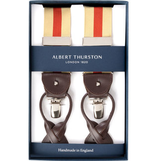 Albert Thurston Hosenträger Beige Orange