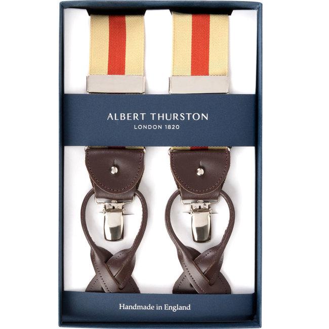 Albert Thurston Bretels Beige Oranje