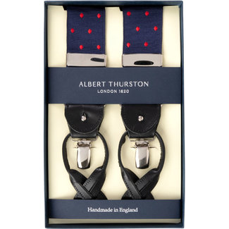 Albert Thurston Bretels Navy Rood