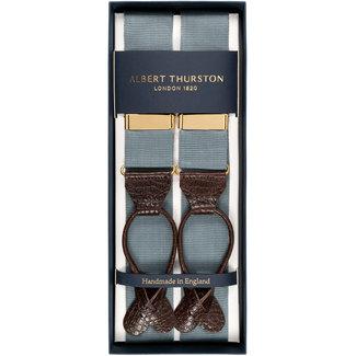 Albert Thurston Braces Dove Grey 'No Time To Die'
