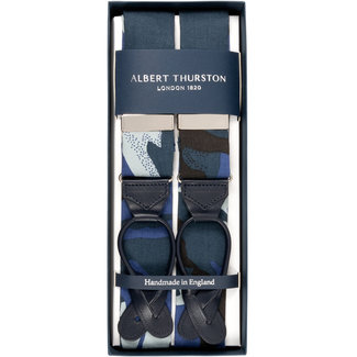 Albert Thurston Braces Blue Camouflage