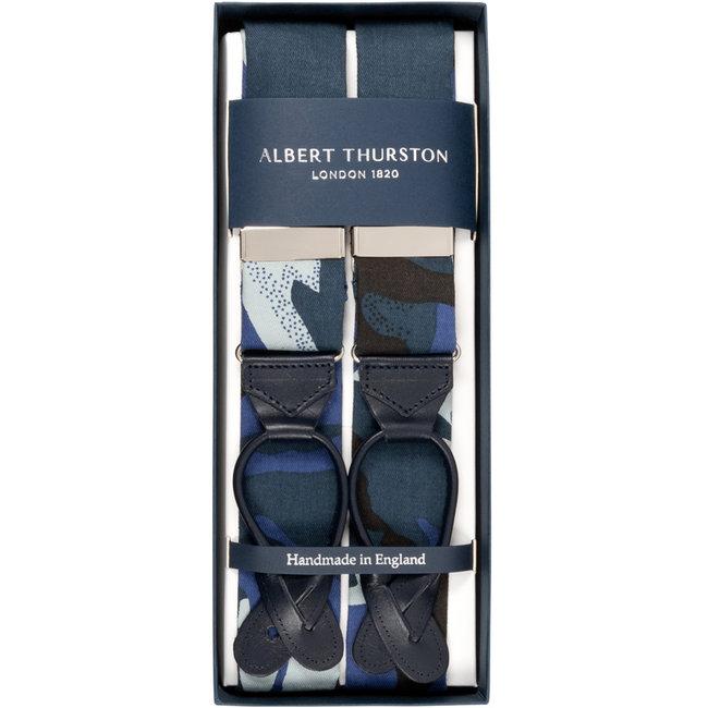 Albert Thurston Hosenträger Blau Camouflage