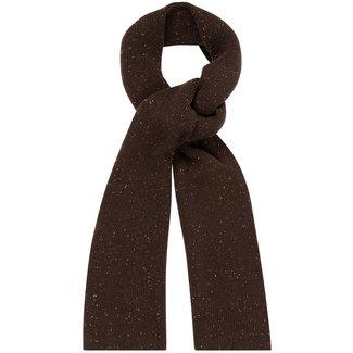William Lockie Donegal Geelong Scarf Dark Brown