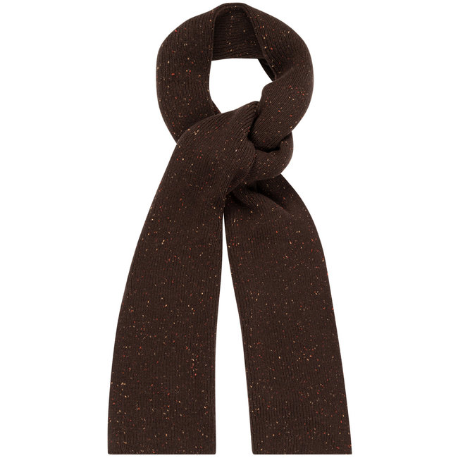 William Lockie Donegal Geelong Scarf Dark Brown