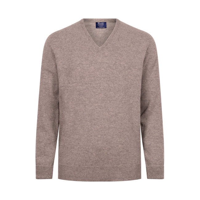 William Lockie Sweater Flannel Rob Lambswool V-neck