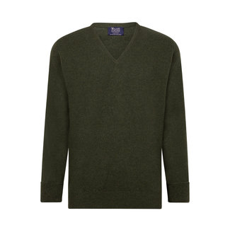 William Lockie Sweater Rosemary Rob Lambswool V-neck