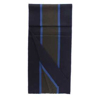 Begg & Co Lambswool Angora Scarf Fleming Navy Blue