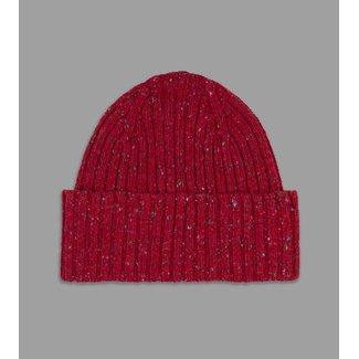 Drake's Donegal Merinowolle Mütze Rot
