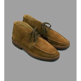 Drake's Crosby Moc-Toe Chukka Boot Tobacco Suede