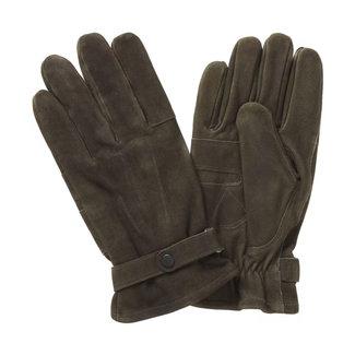Barbour Leder Handschuhe Thinsulate Olive