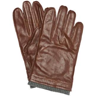 Barbour Braden Burnished Leather Gloves Brown