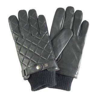 Barbour Quilted Lederen Handschoenen Zwart
