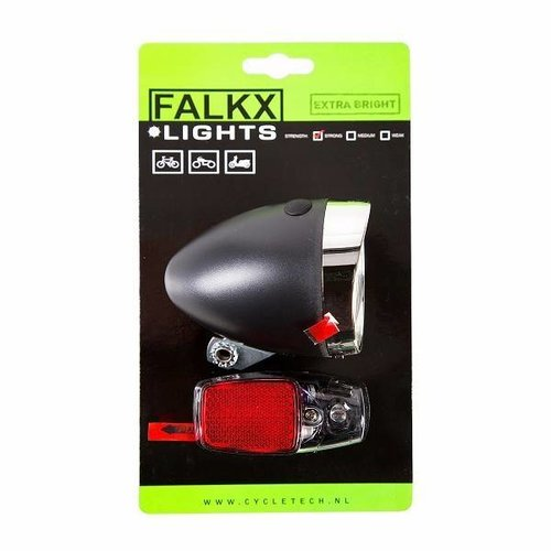 Falkx LED Fietsverlichting set - Batterijen