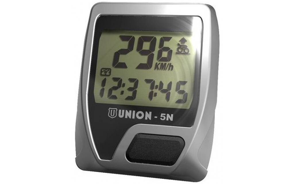 Union Union Fietscomputer 5N - 5 Functies