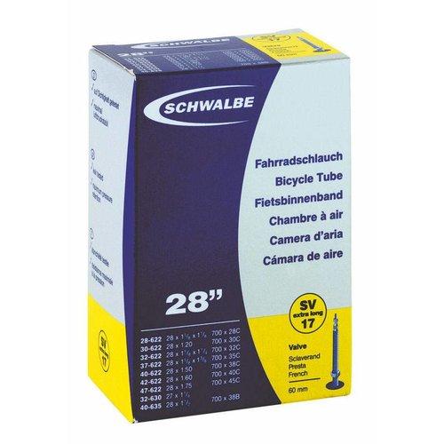 "Schwalbe Binnenband Schwalbe SV17 28"" - 60mm Ventiel"