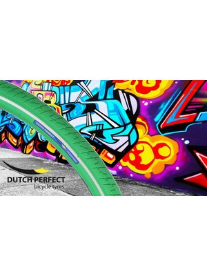 Dutch Perfect Dutch Perfect Buitenband 40-635 / 28x1-1/2 Groen met Reflectie No-Punctur