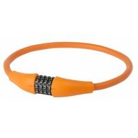 Kabelslot+Cyfer M-Wave Silicon Oranje
