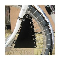 Zadel Op Stang Spaakafschermer - Zwart - Aluminium