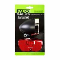 Falkx LED Fietsverlichting set - Bagagedrager