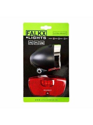 Falkx Falkx LED Fietsverlichting set - Bagagedrager
