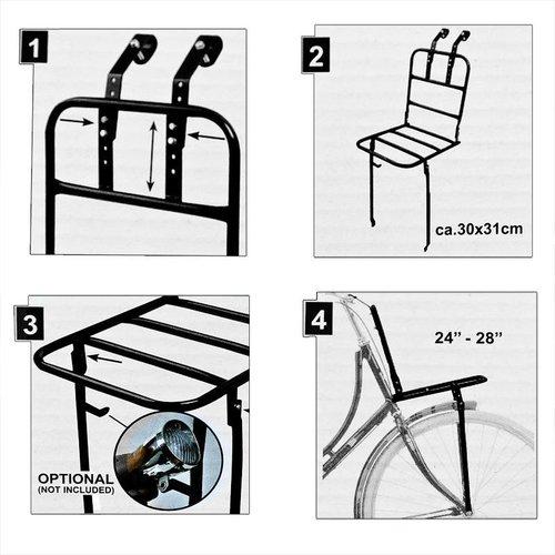 "Bicycle Gear Bicycle Gear Fietsvoordrager / Bakkersrek - 24-28"""