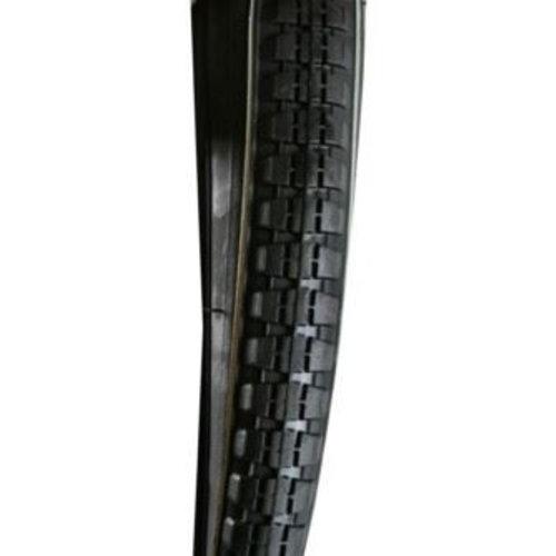 Goedkope Buitenband 28 x 1 1/2 Zwart (40-635) - Witte Lijn