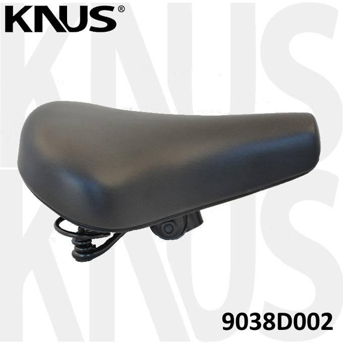 KNUS Fietszadel Knus Retro met strop - KS9038D - Zwart