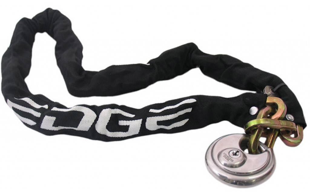Edge Edge Urban Kettingslot met Discusslot - 8mm x 120cm - Zwart