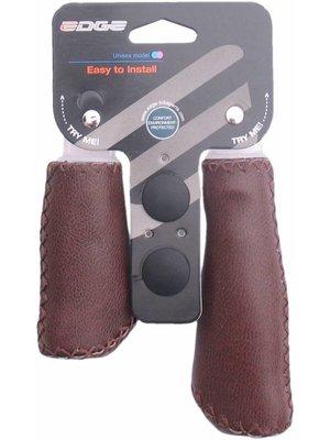 Edge Handvatset Edge Leer - Mat-Bruin - 135 / 92mm