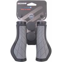 Handvatset Edge ErgoCity met lockring - 2x136mm - zwart/grijs