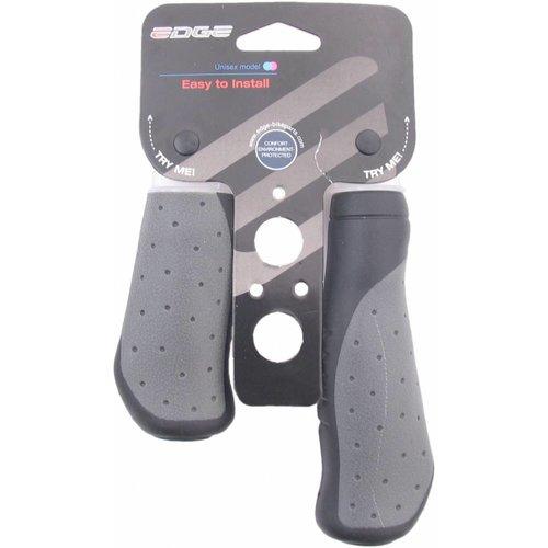 Edge Handvatset Edge ErgoCity - 135/92mm - zwart/grijs