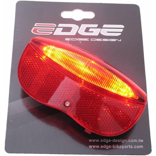 Edge Dragerachterlicht Edge City Luxe - 3 leds inclusief batterijen - 80mm