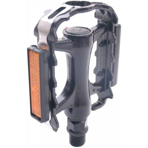 Edge Fietspedalen Edge MTB Low Profile - Alu zwart met polish zijkant