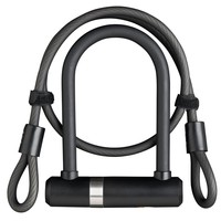 Beugelslot Axa Newton Mini Pro + kabel 100/10 - zwart (winkelverpakking)